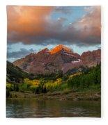 Sunrise At Maroon Bells Fleece Blanket