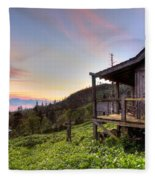 Sunrise At Mt Leconte Fleece Blanket