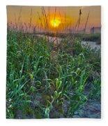 Sunrise At Myrtle Beach Fleece Blanket