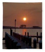 Sunrise At Piney Point Maryland Fleece Blanket