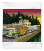 Port Madison Sunrise Fleece Blanket