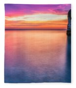 Summer Sunrise Selwick Bay Flamborough Fleece Blanket