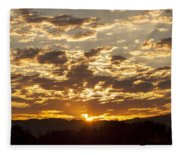 Sunrise At Spirit Lake Sanctuary Lower Lake Ca 20140710 0609 Fleece Blanket