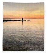 Sunrise At The Straits Fleece Blanket