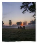 Sunrise At Whitemarsh Fleece Blanket