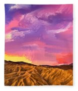 Sunrise At Zabriskie Point Fleece Blanket