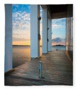Sunrise Boardwalk Fleece Blanket
