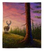 Sunrise Buck Fleece Blanket