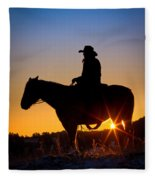 Sunrise Cowboy Fleece Blanket