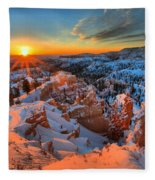 Sunrise Delight Fleece Blanket