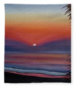 Sunrise Glow Fleece Blanket
