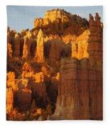 Sunrise In Bryce's Fairyland Fleece Blanket
