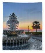 Sunrise In Charleston Fleece Blanket
