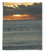 Sunrise In Florida Riviera Fleece Blanket
