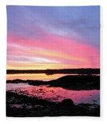 Sunrise In Maine Fleece Blanket