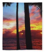 Sunrise In Queensland 1 Fleece Blanket