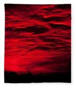 Sunrise In Red Fleece Blanket