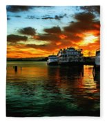 Sunrise In San Francisco Fleece Blanket