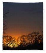Sunrise In Tennessee Fleece Blanket