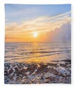 Sunrise In The Atlantic Fleece Blanket