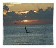 Sunrise In The Florida Riviera Fleece Blanket