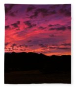 Sunrise In The Foothills Fleece Blanket