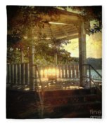 Sunrise In The Gazebo Fleece Blanket