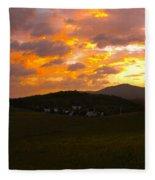 Sunrise In The Smokies Fleece Blanket