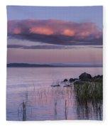 Sunrise Lake Champlain Shore Vermont Clouds Fleece Blanket