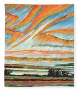 Sunrise Les Eboulements Quebec Fleece Blanket