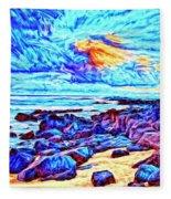 Sunrise Near Poipu Beach Fleece Blanket