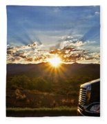 Sunrise On A Traffic Jam Fleece Blanket