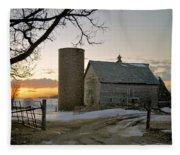 Sunrise On Birch Fleece Blanket