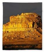 Sunrise On Fajada Butte Fleece Blanket