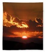 Sunrise On Fire Fleece Blanket