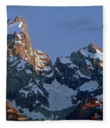 1m9333-h-sunrise On Grand Teton Fleece Blanket