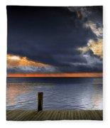 Sunrise On Key Islamorada In The Florida Keys Fleece Blanket