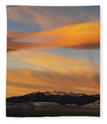 Sunrise On Lenticular Clouds Fleece Blanket