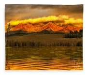 Sunrise On Little Redfish Lake Fleece Blanket