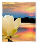 Sunrise On Lotus Lillie Fleece Blanket