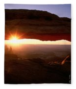 Sunrise On Mesa Arch Fleece Blanket