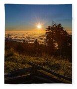 Sunrise On Mount Mitchell Fleece Blanket