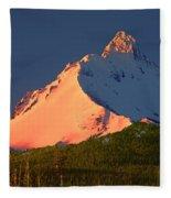 1m5306-sunrise On Mt. Washington Fleece Blanket