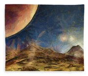 Sunrise On Space Fleece Blanket