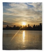 Sunrise On The Big Apple Fleece Blanket