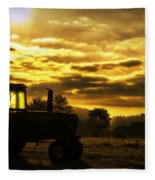 Sunrise On The Deere Fleece Blanket