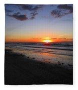 Sunrise On The Gulf Fleece Blanket