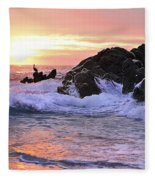 Sunrise On The Horizon Fleece Blanket