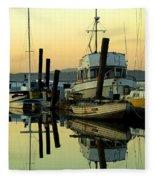 Sunrise On The Petaluma River Fleece Blanket