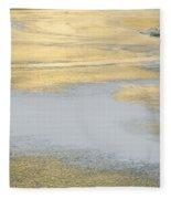 Sunrise On The River Ice Fleece Blanket